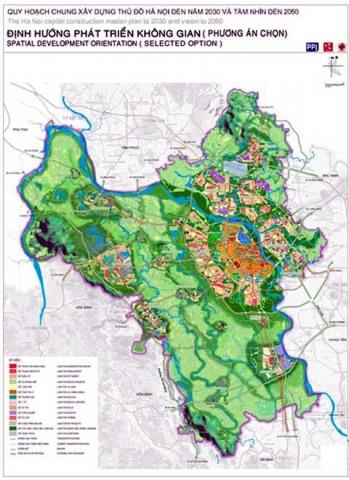 Bản đồ quy hoạch không gian Hà Nội 2030 đến 2050